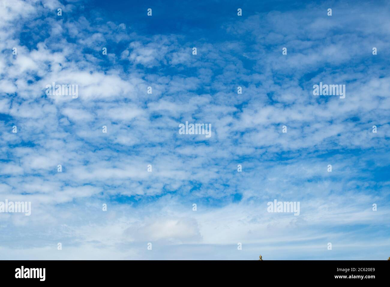 White Clouds On The Blue Sky In The Summer Sky Texture Stock Photo Alamy