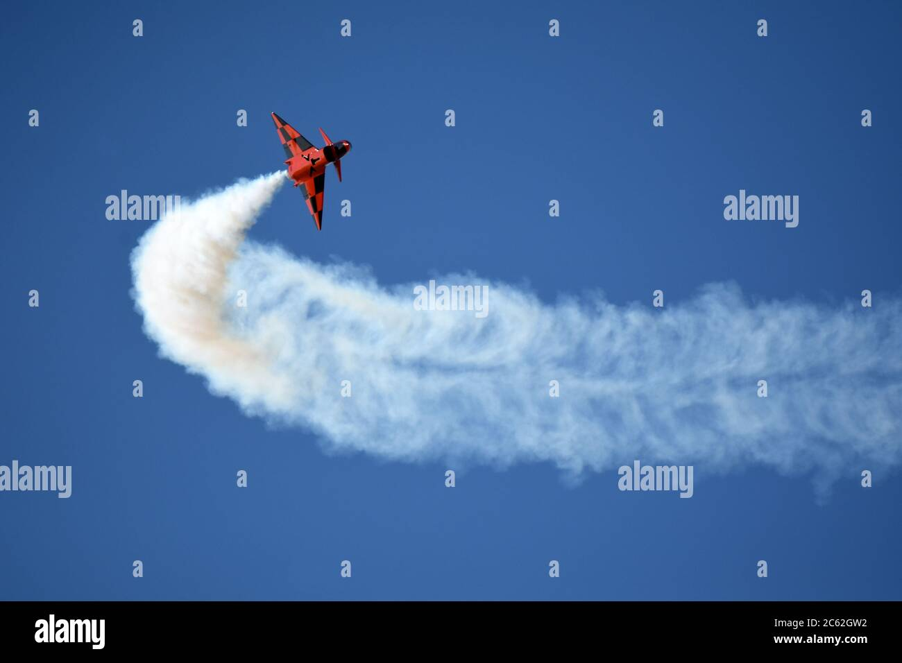 Jet plane in flight during an airshow Stock Photo