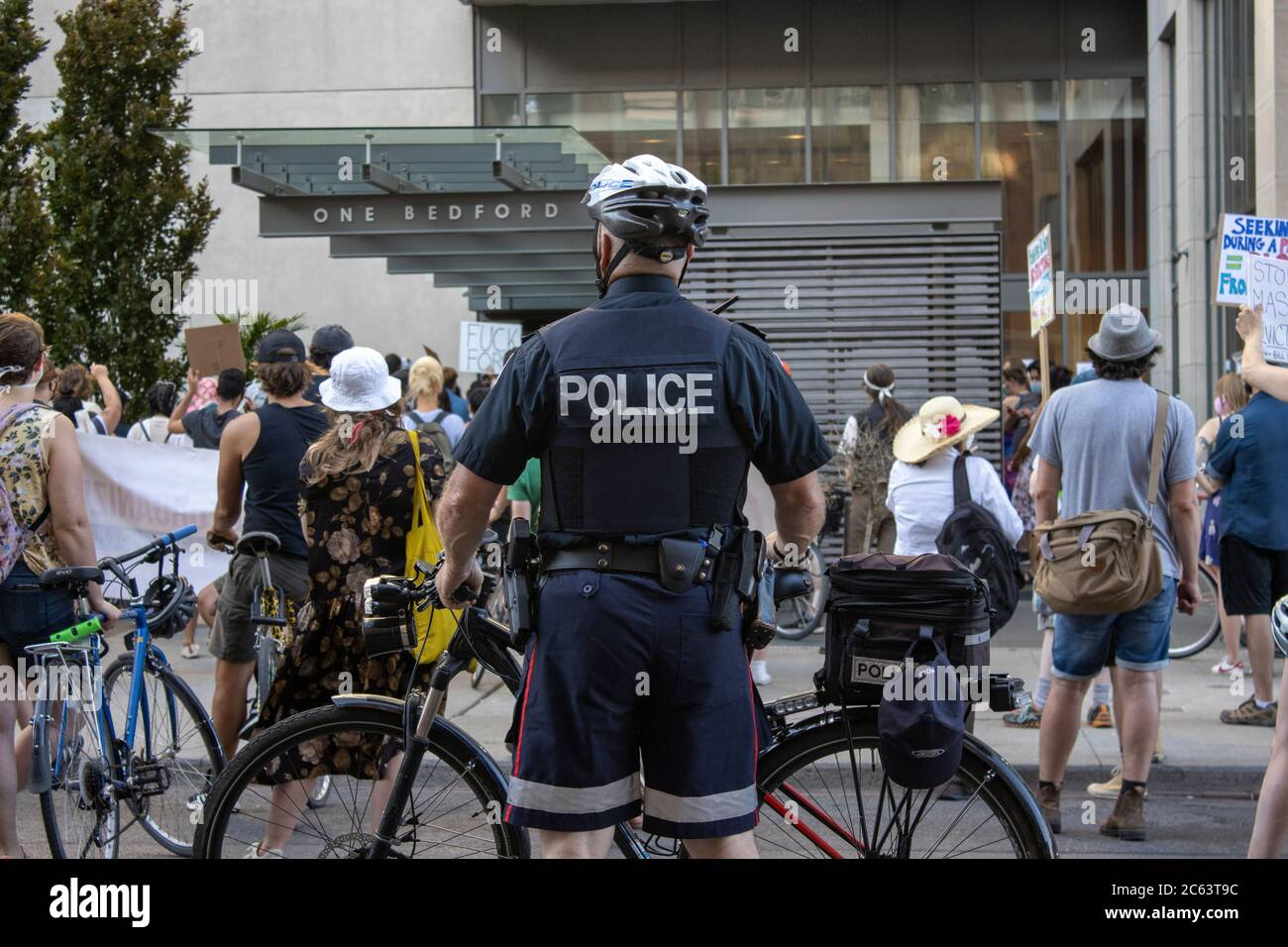 Protest Bill 184 - Toronto ON - July 06 2020 Stock Photo