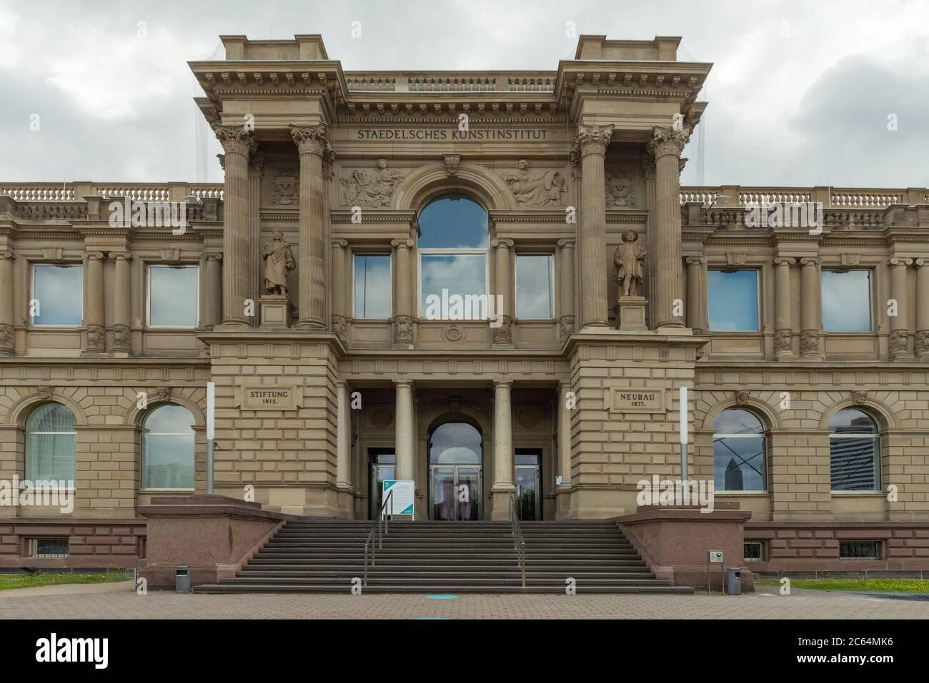entrance Staedel Museum, art museum in Frankfurt am Main, Germany Stock Photo