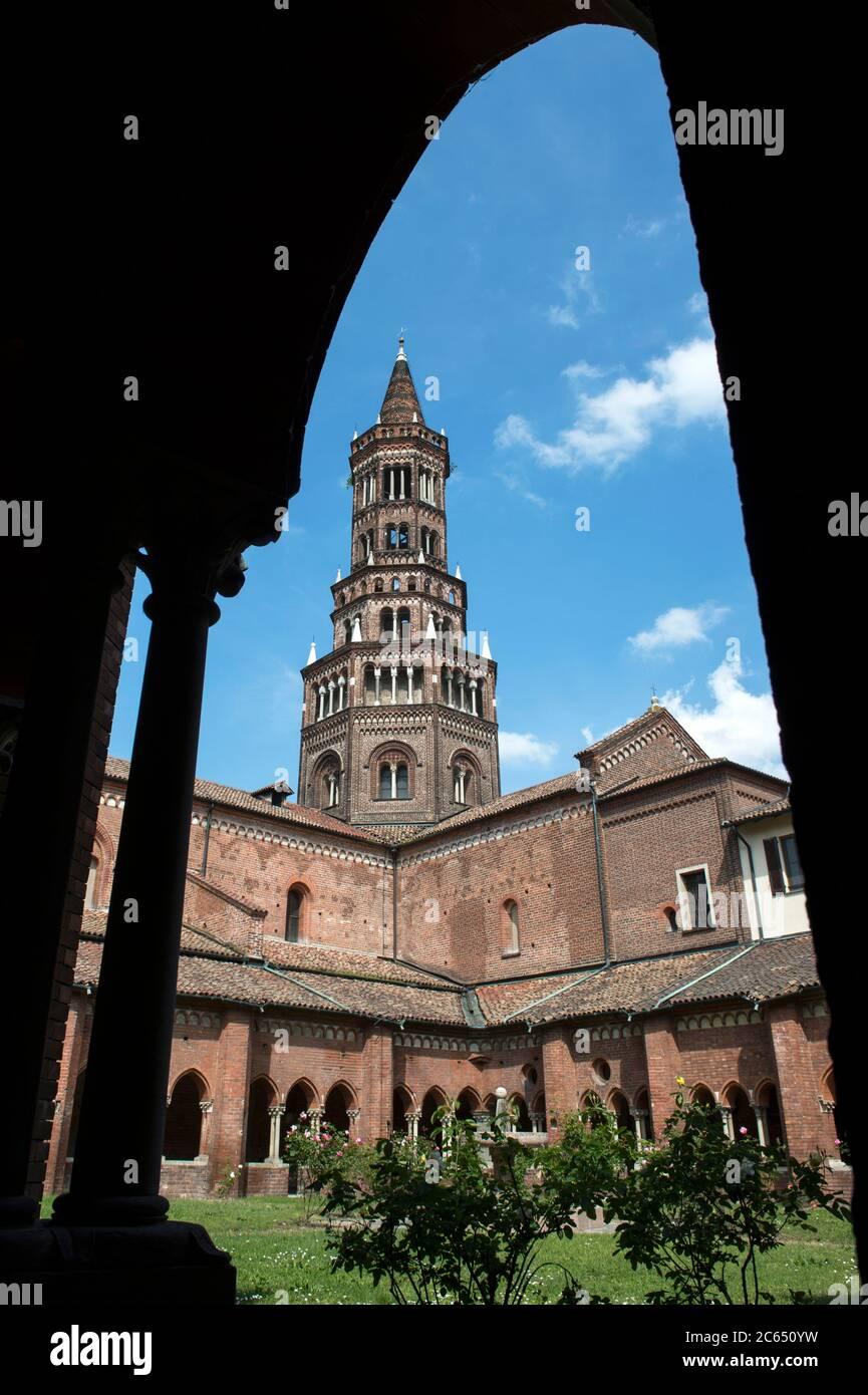 Italy, Lombardy, Milan, Chiaravalle Abbey Stock Photo