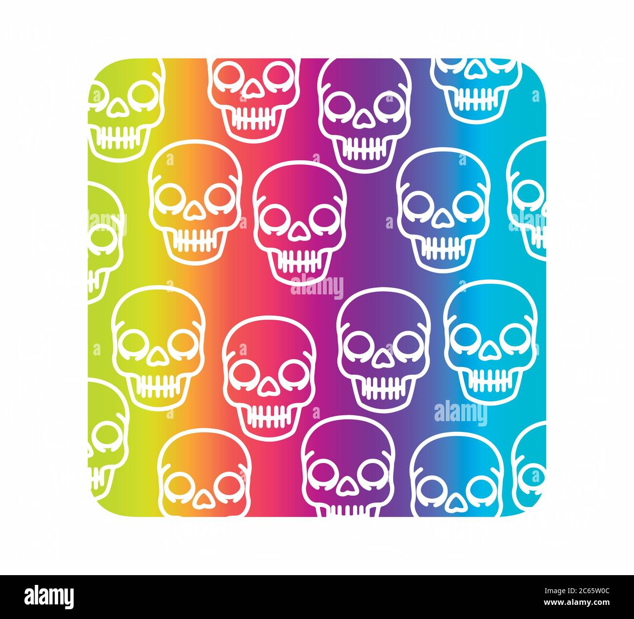 colorful skull background Stock Vector