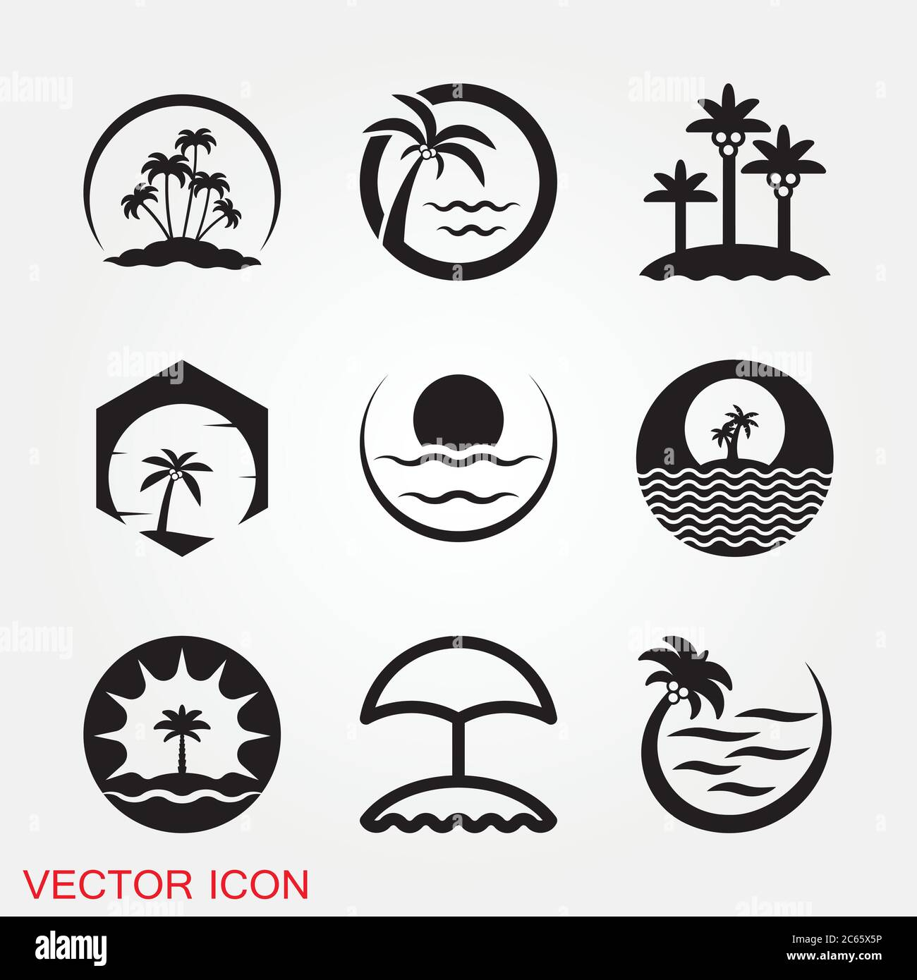 beach icon summer icons with background sign illustration stock vector image art alamy beach icon summer icons with