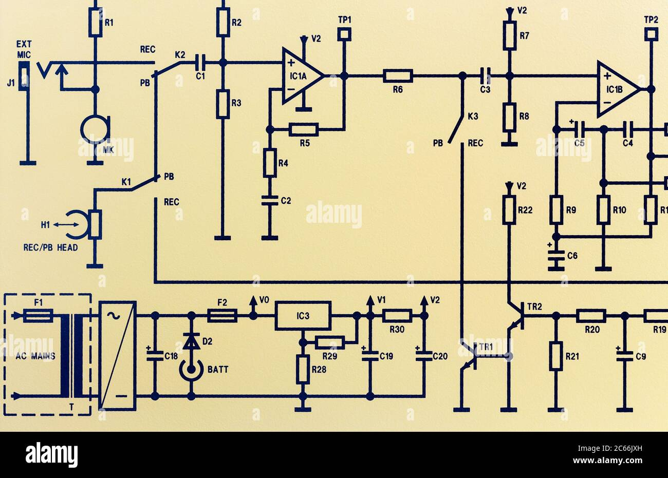 Electrical Engineer Drawing Circuit Diagram High Resolution Stock  Photography and Images - Alamy [ 931 x 1300 Pixel ]