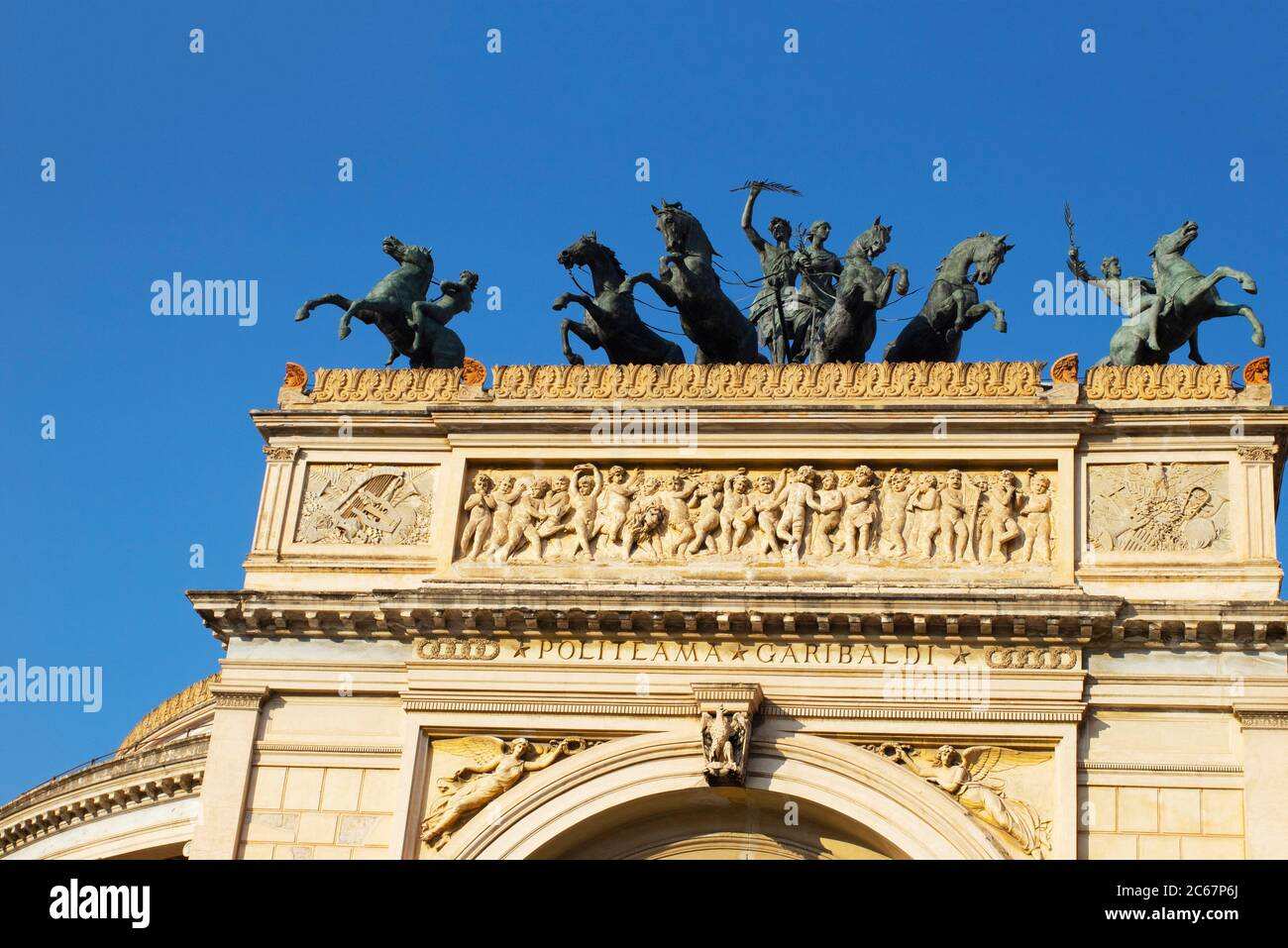 Teatro Politeama Garibaldi, Palermo, Sicily, Italy Stock Photo