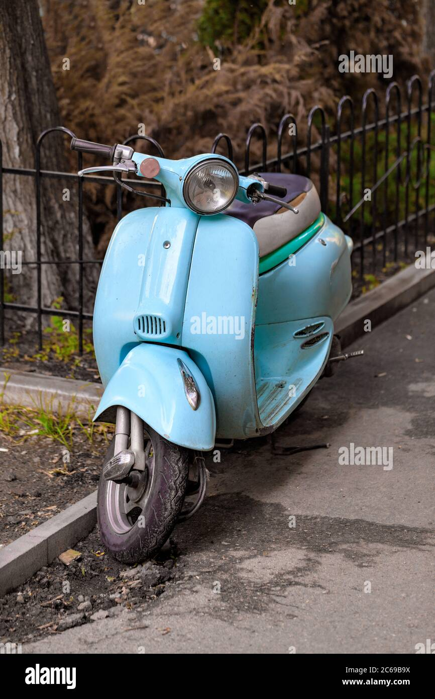 Retro Style Scooter High Resolution Stock Photography And Images Alamy