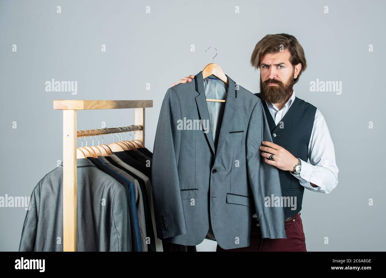Tailor Measures Man Stylish Business Man At Workspace Fashion Design Studio Male Fashion Designer Individual Measures Hand Of Man Man Ordering Business Suit Posing Indoor Another Working Day Stock Photo Alamy