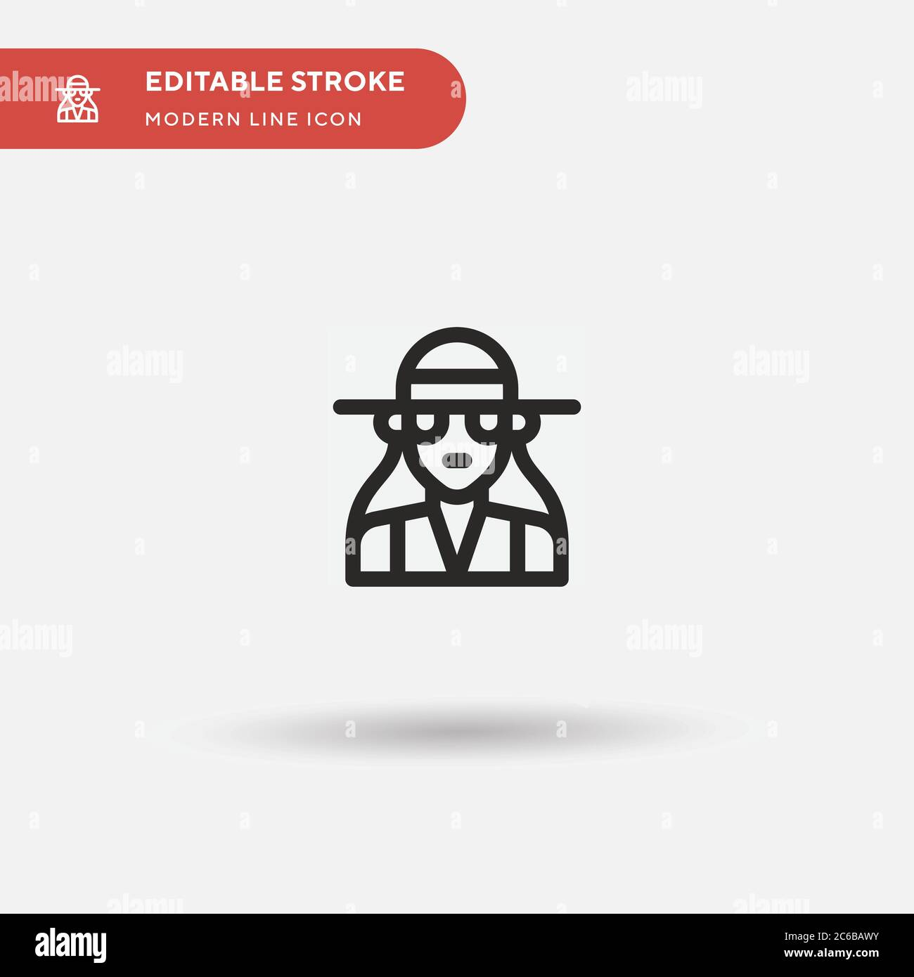 Preppy Simple vector icon. Illustration symbol design template for web mobile UI element. Perfect color modern pictogram on editable stroke. Preppy icons for your business project Stock Vector