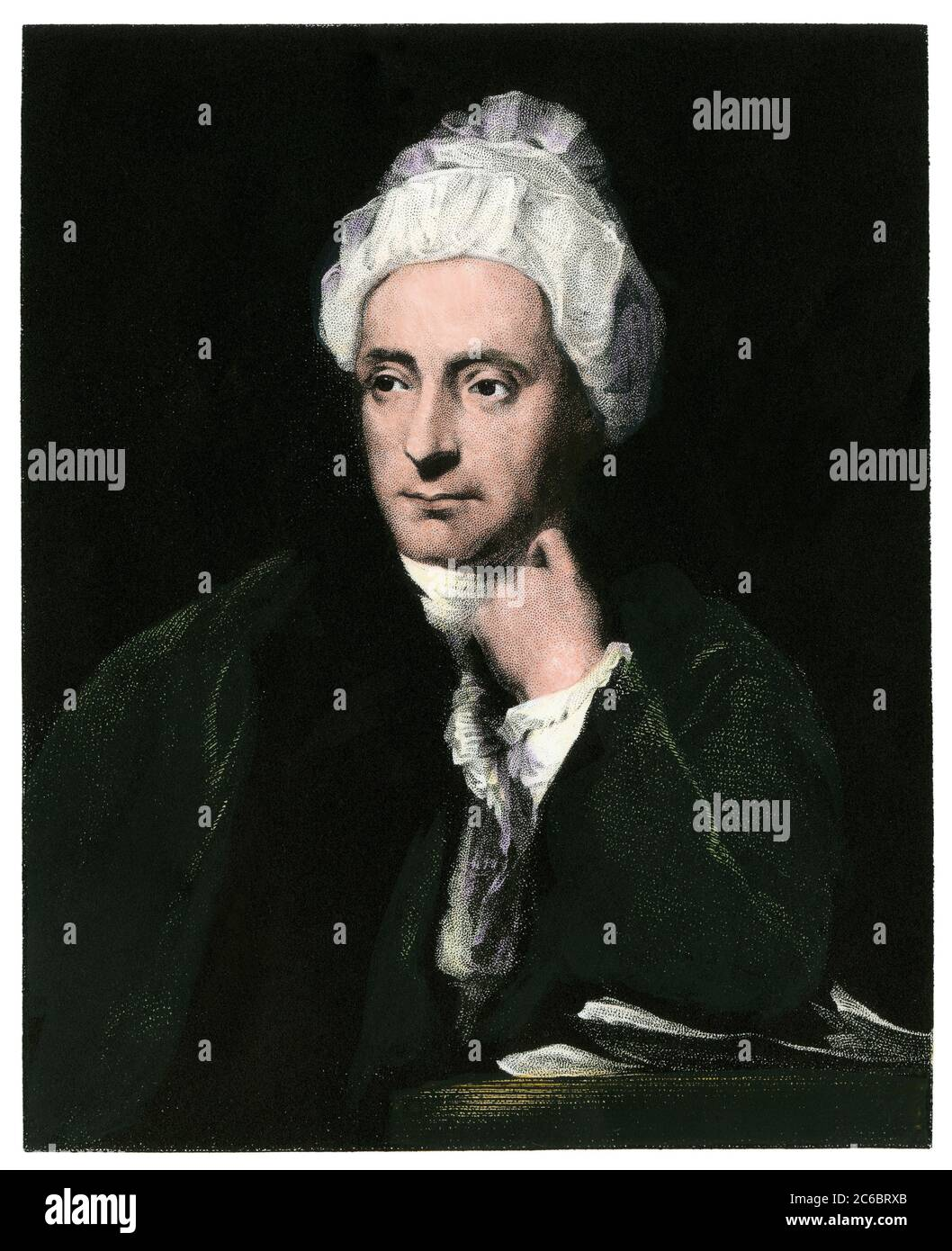English poet William Cowper. Hand-colored steel engraving Stock Photo