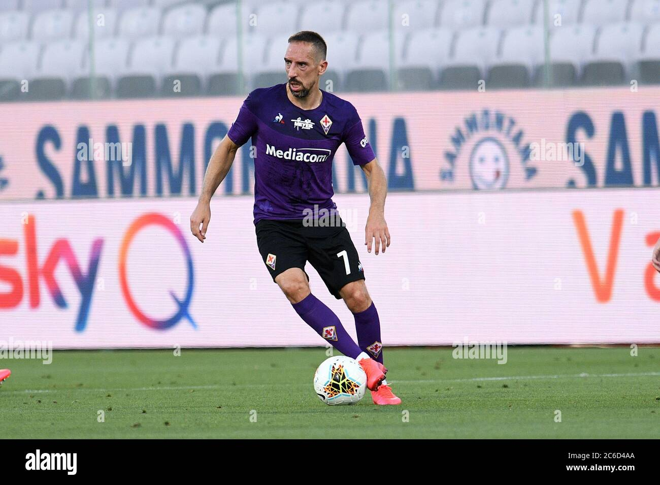 Franck Ribery Of Acf Fiorentina In Action During Acf Fiorentina Vs Cagliari Florence Italy 08 Jul 2020 Stock Photo Alamy