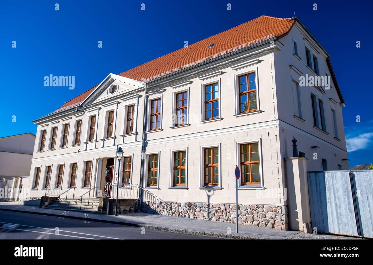 Neustrelitz, Germany. 23rd June, 2020. The building of the State Social Court of Mecklenburg-Vorpommern in the Tiergartenstraße. Credit: Jens Büttner/dpa-Zentralbild/ZB/dpa/Alamy Live News Stock Photo