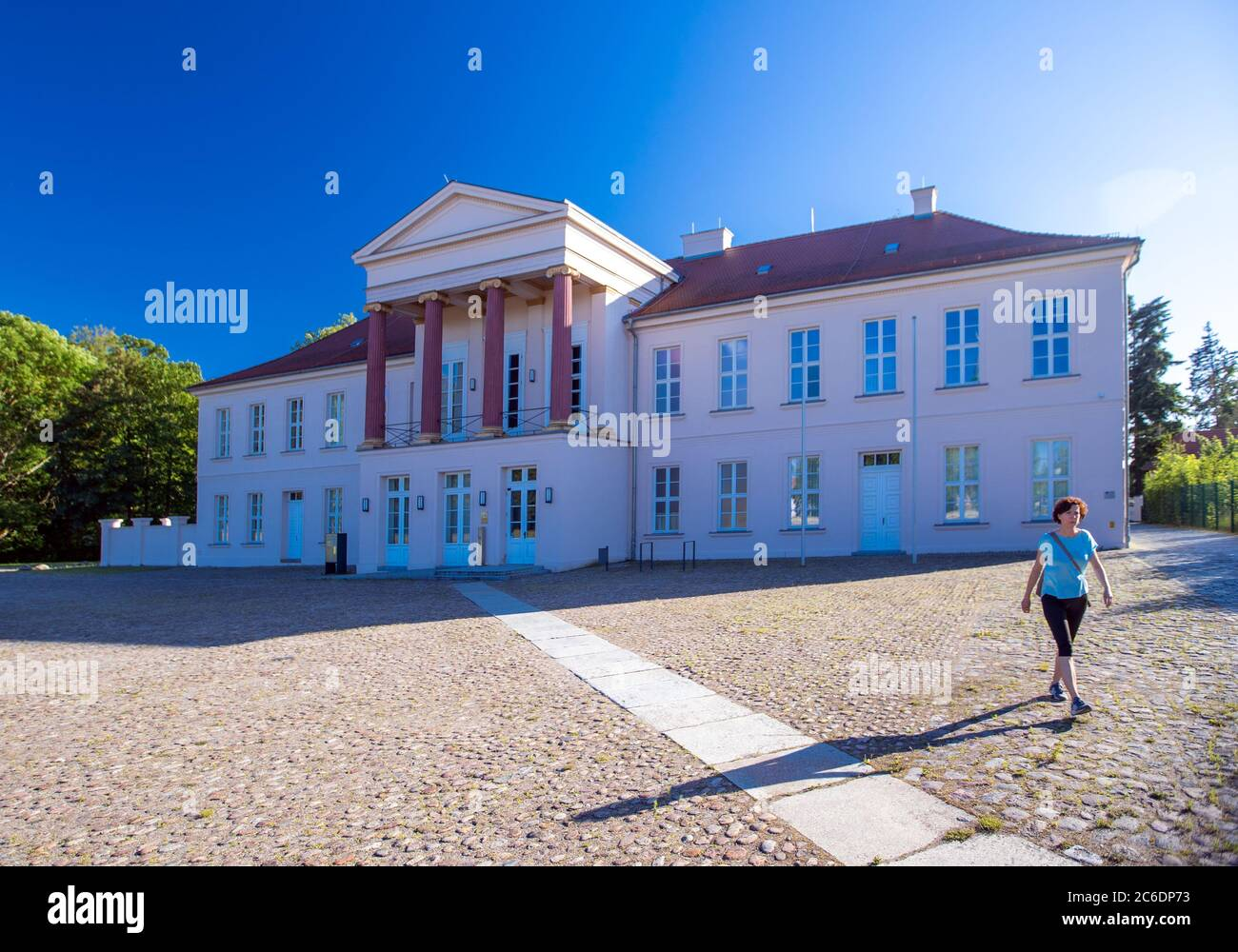 Neustrelitz, Germany. 23rd June, 2020. The Kavaliershaus on today's Schlossplatz is the only remaining building of the former residential palace. Credit: Jens Büttner/dpa-Zentralbild/ZB/dpa/Alamy Live News Stock Photo