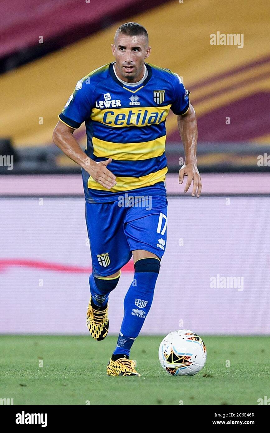 Rome Italy 08th July 2020 Antonino Barilla Of Parma Calcio During The Serie A Match Between