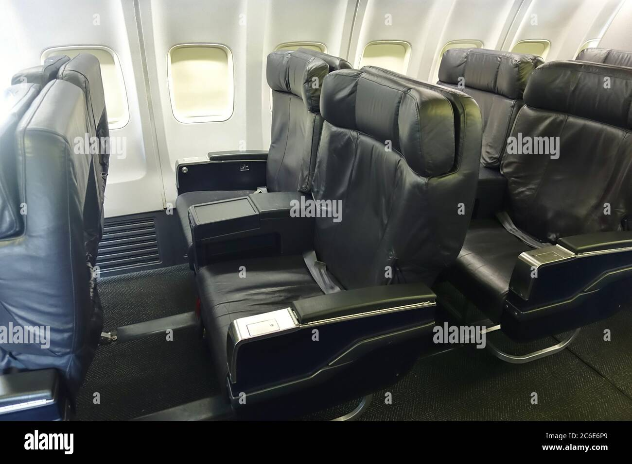 Guadalajara Mexico 4 Jul 2020 View Of Rows Of Seats In An Empty Business Class Cabin On A Boeing 737 From United Airlines Ua Stock Photo Alamy