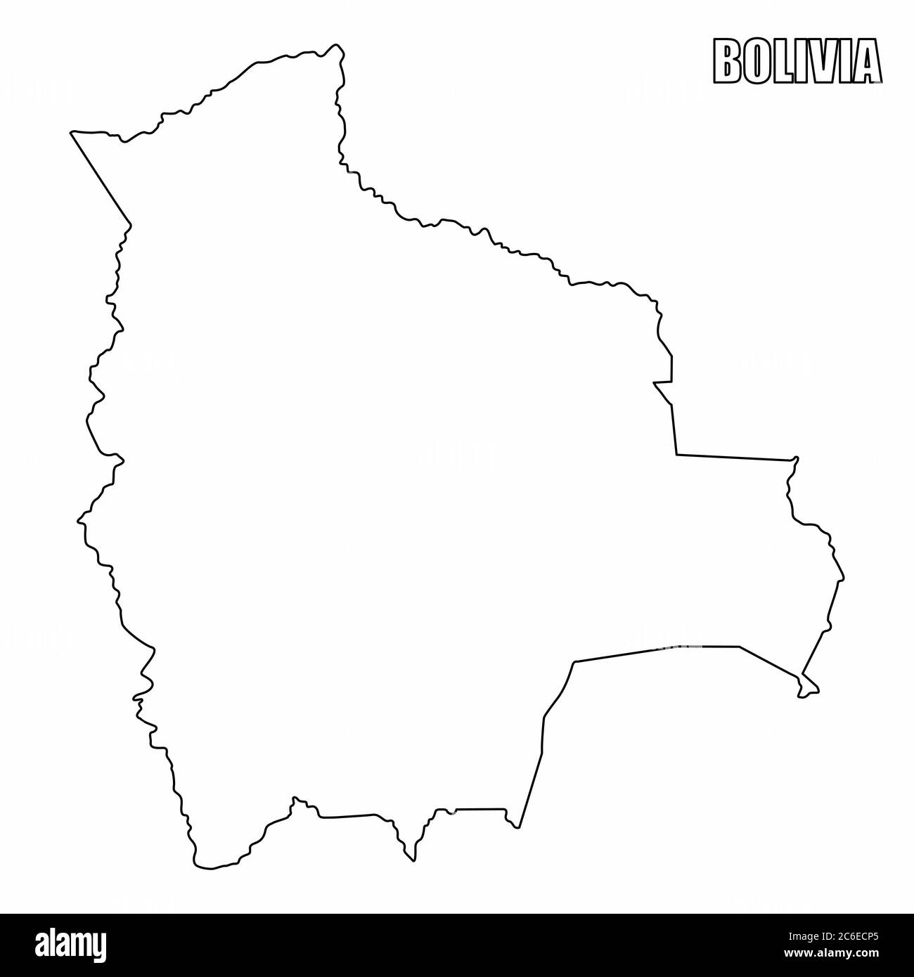 Picture of: Bolivia Blank Map High Resolution Stock Photography And Images Alamy