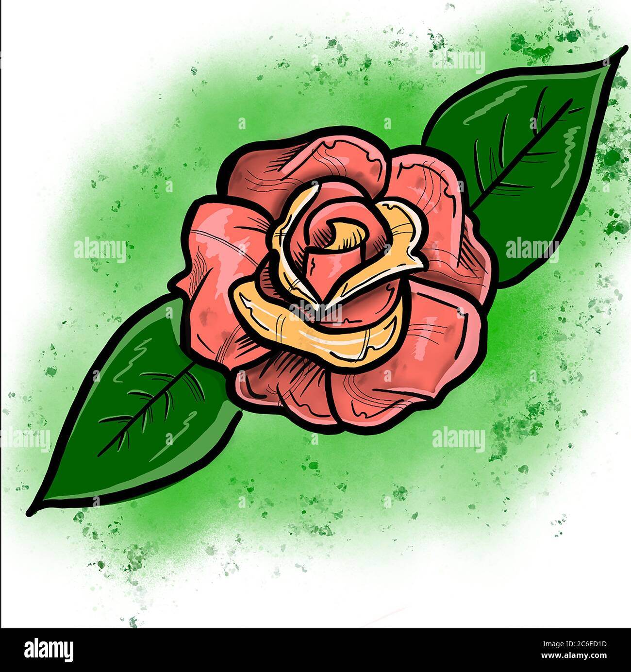 Rose Tattoo Cartoon High Resolution Stock Photography And Images Alamy