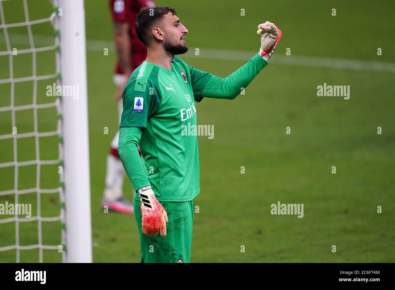 Milano Italy 07th July 2020 Italian Serie A Gianluigi Donnarumma Of Ac Milan In Action During The Serie A Match Between Ac Milan And Juventus Fc Stock Photo Alamy