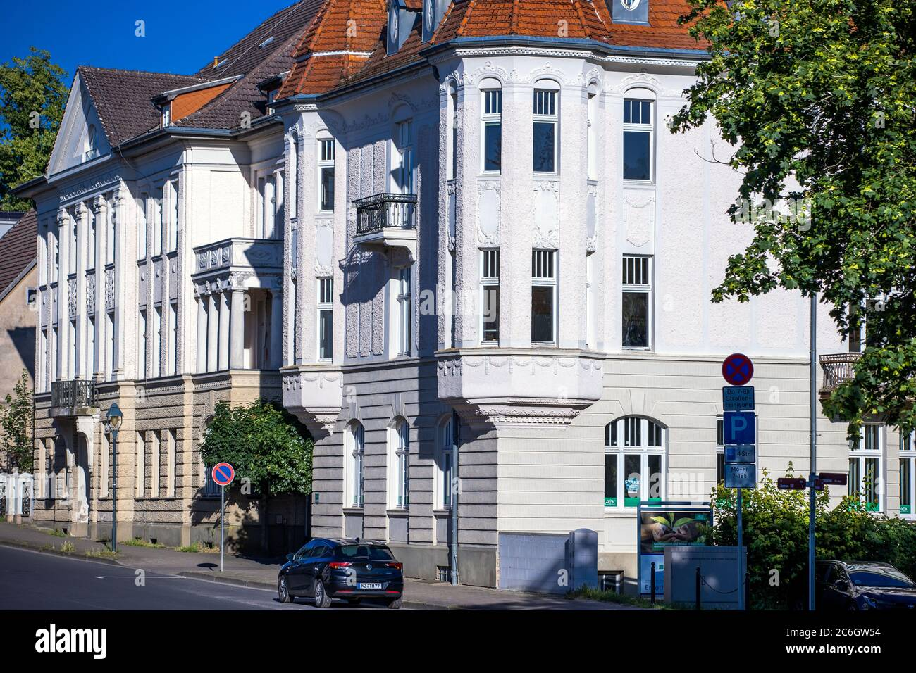 Neustrelitz, Germany. 23rd June, 2020. Residential and commercial buildings in the Tiergartenstraße. Credit: Jens Büttner/dpa-Zentralbild/ZB/dpa/Alamy Live News Stock Photo