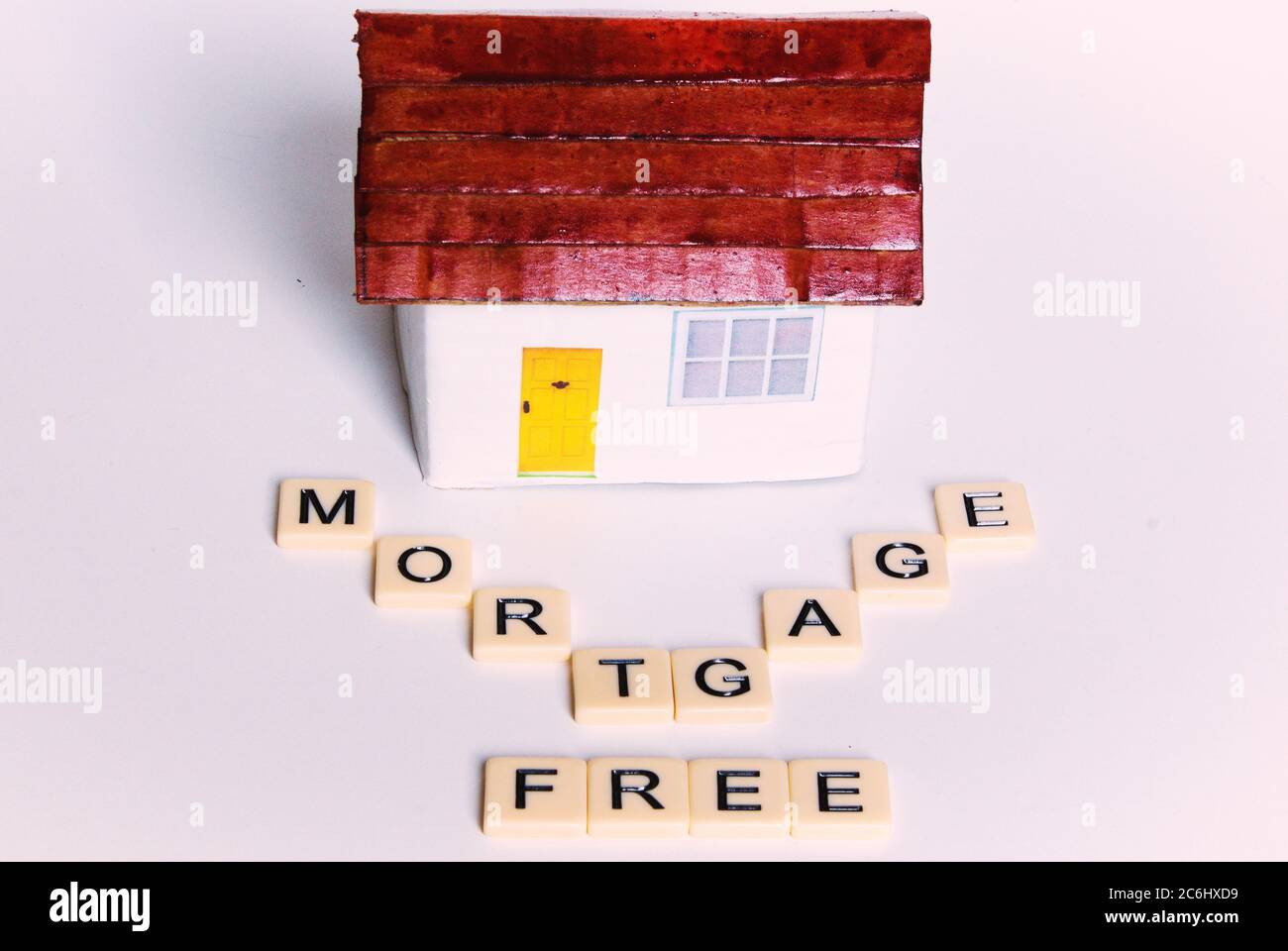 Financial Concept Image Cost Of Covid 19 To Economy And Savings Dream Of Mortgage Free Future Words Mortgage Free Owning Own House No Mortg Stock Photo Alamy