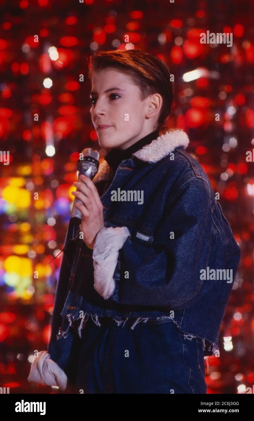 Die Spielbude, Unterhaltungsshow, Deutschland 1982 - 1989, Gaststar: Teeniestar Cindy Stock Photo