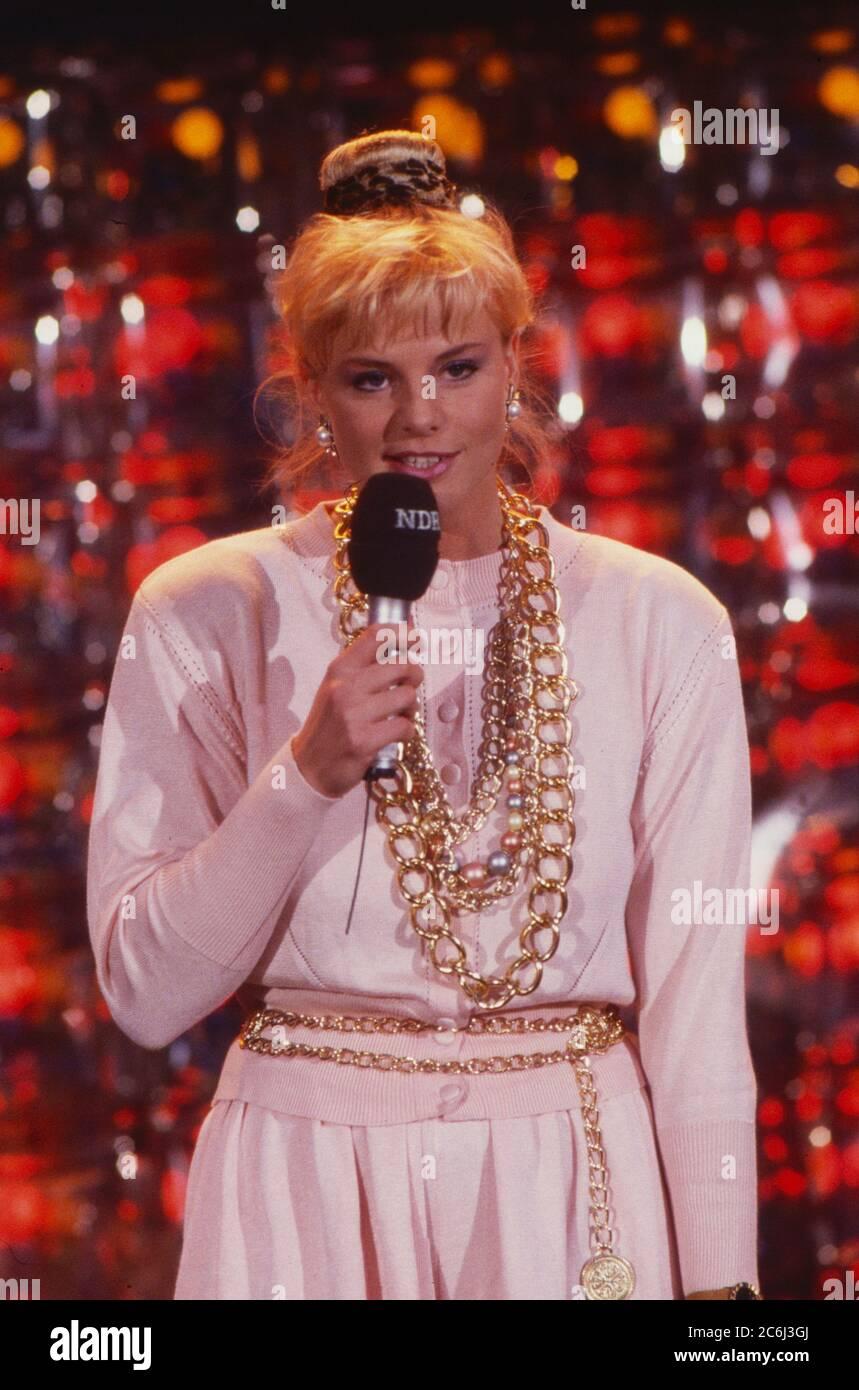 Die Spielbude, Unterhaltungsshow, Deutschland 1982 - 1989, Moderatorin Jutta Kretschmer Stock Photo