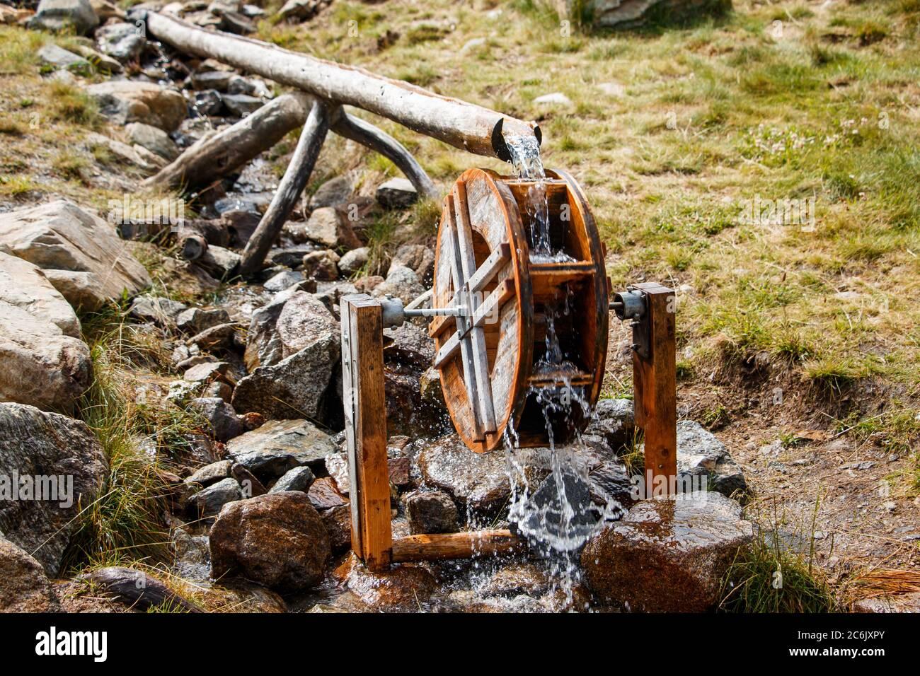 Kleines Wasserrad Stock Photo