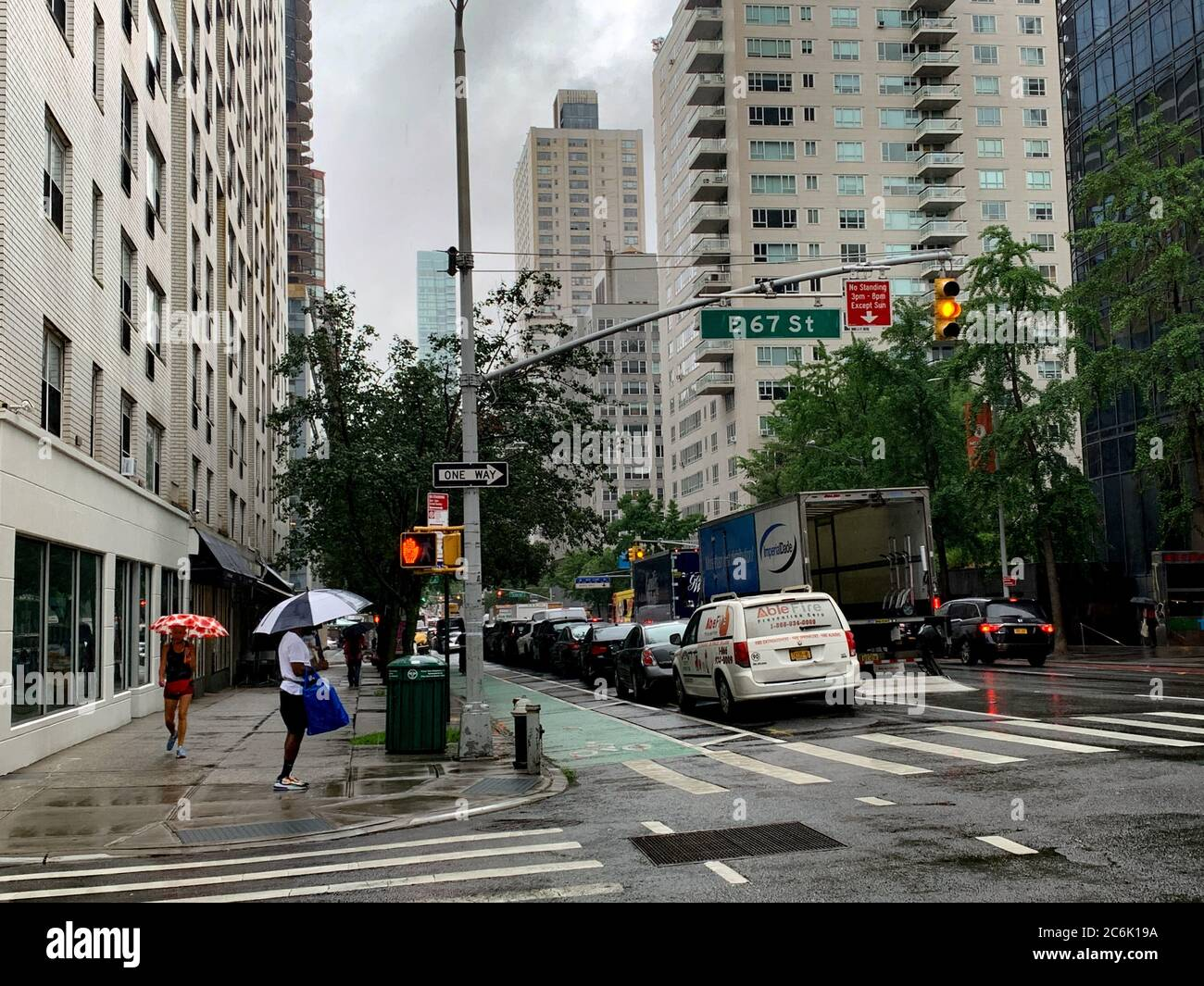 New York, USA. 10th July, 2020. (NEW) Heavy rainfall and floods expected in New York City . July 10, 2020, New York, USA: Tropical storm warnings and floods have been issued for New York City and some of the surrounding suburbs this Friday (10) according to the National Weather service. It is expected to be windy too up to between 40 mph and 50 mph.Credit: Niyi Fote /Thenews2. Credit: Niyi Fote/TheNEWS2/ZUMA Wire/Alamy Live News Stock Photo