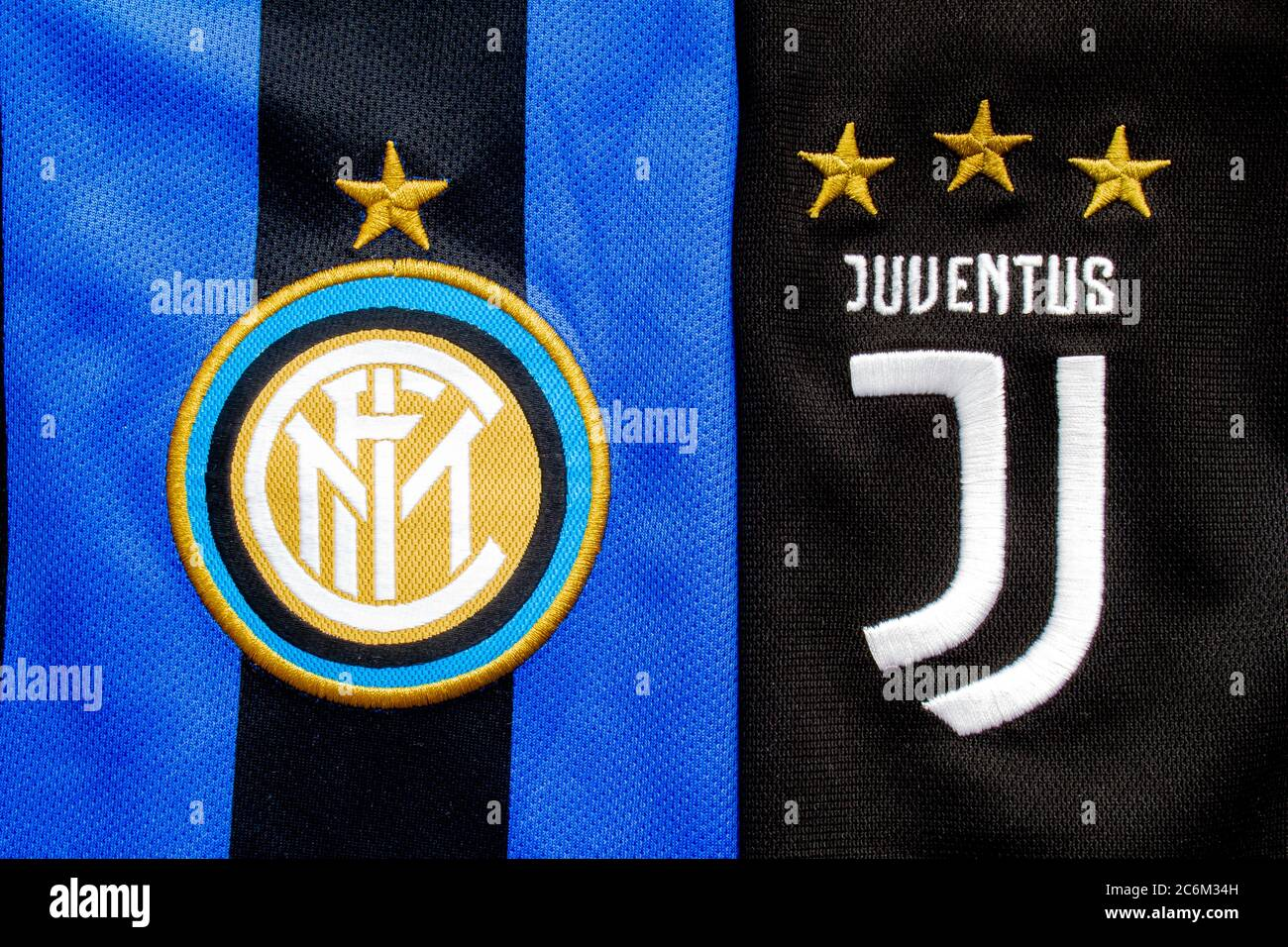 juventus logo high resolution stock photography and images alamy https www alamy com calgary alberta canada july 10 2020 juventus fc vs inter milan close up to their jersey logo image365547185 html