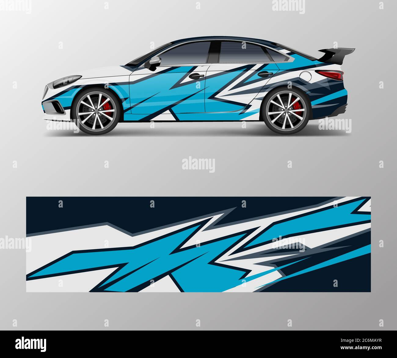 Abstract Sport Racing Car Wrap Decal And Sticker Design Vector Eps10 Format Stock Vector Image Art Alamy