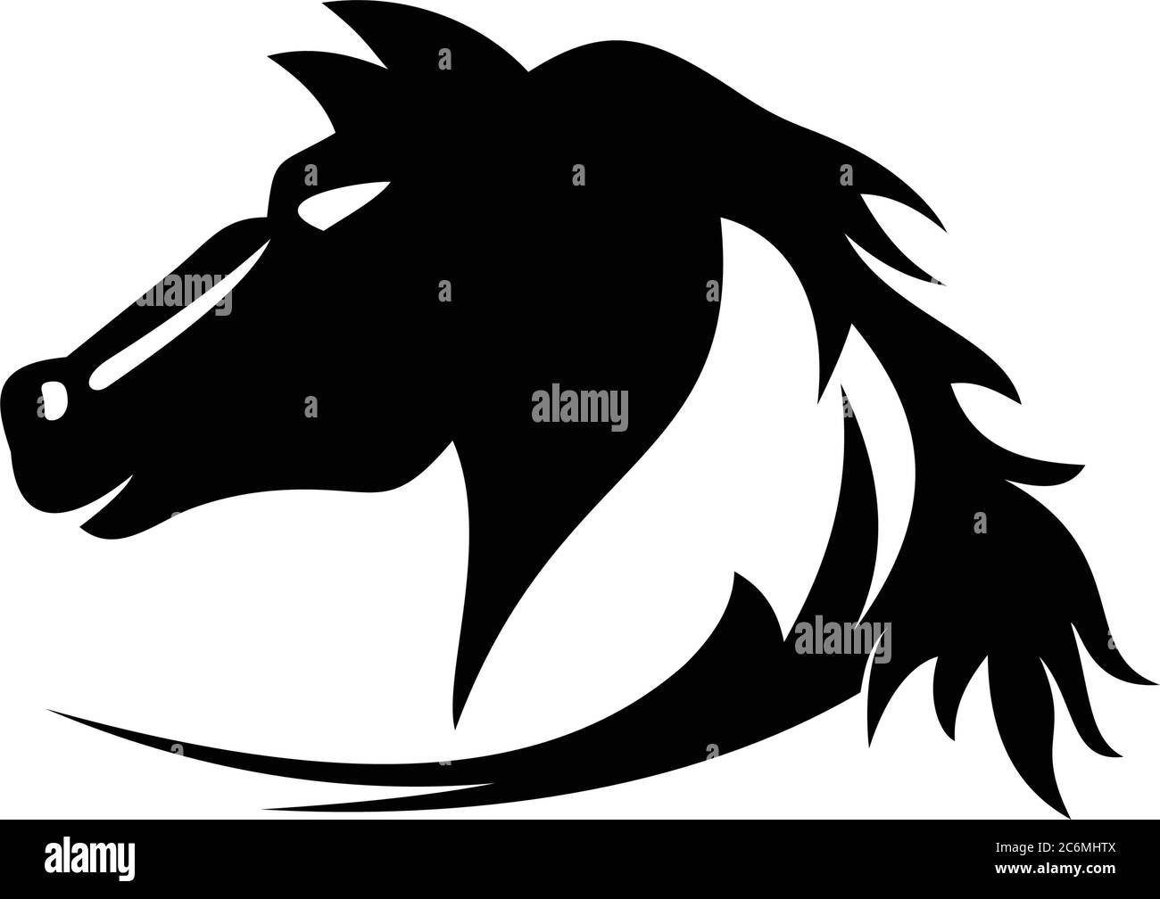 Head Horse Silhouette Stock Vector Image Art Alamy