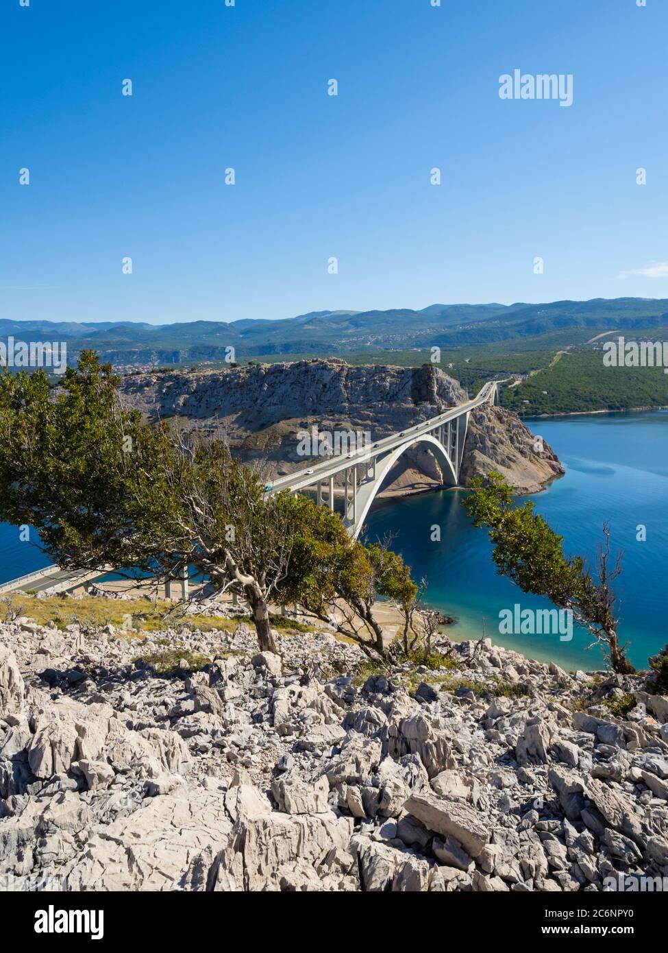Bridge mainland to Krk island in Croatia Europe Stock Photo
