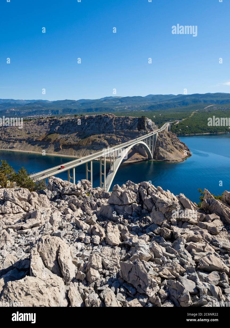 Bridge mainland to Krk island in Croatia Europe Stock Photo