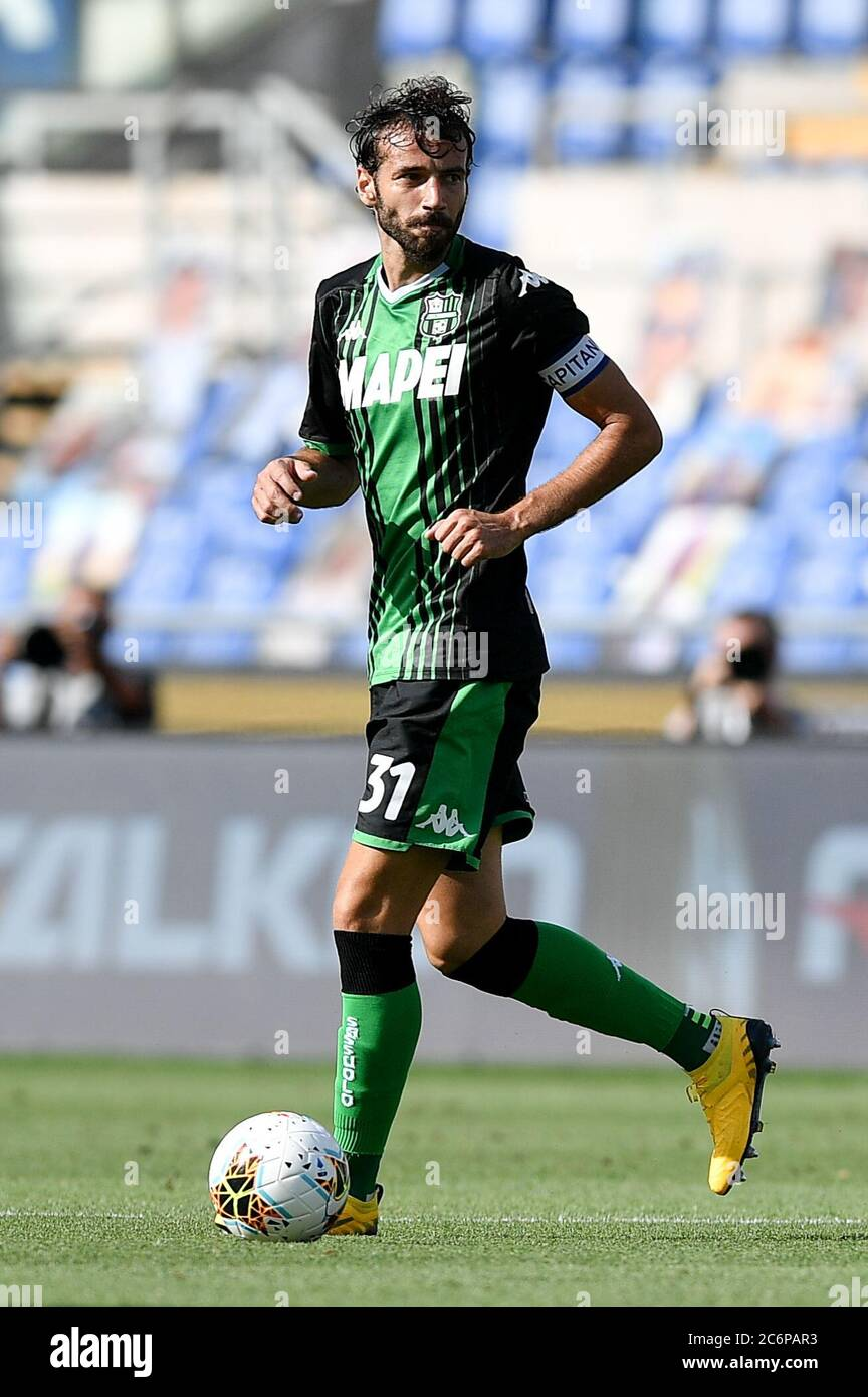 Rome Italy 11th July 2020 Gian Marco Ferrari Of Sassuolo During The Serie A Match Between Lazio And Sassuolo At Stadio Olimpico Rome Italy On 11 July 2020 Photo By Giuseppe Maffia