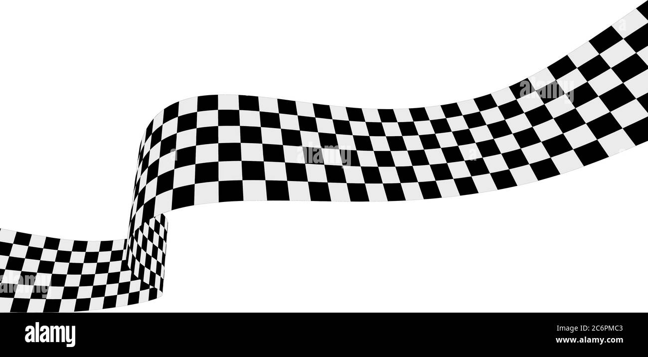 Checkered Racing Flag Ribbon Vector Illustration On White Stock Vector Image Art Alamy