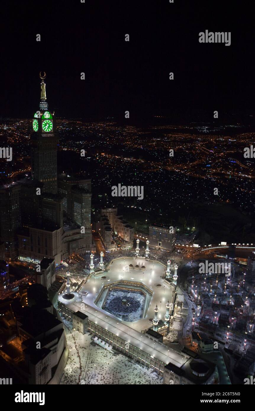 Makkah Grand Mosque And The Royal Clock Tower 2014 Stock Photo Alamy