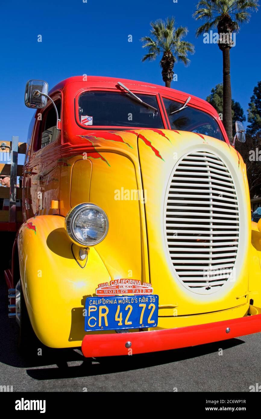 Historic Vehicle, Doh Dah Parade, Pasadena, Los Angeles, California, USA Stock Photo