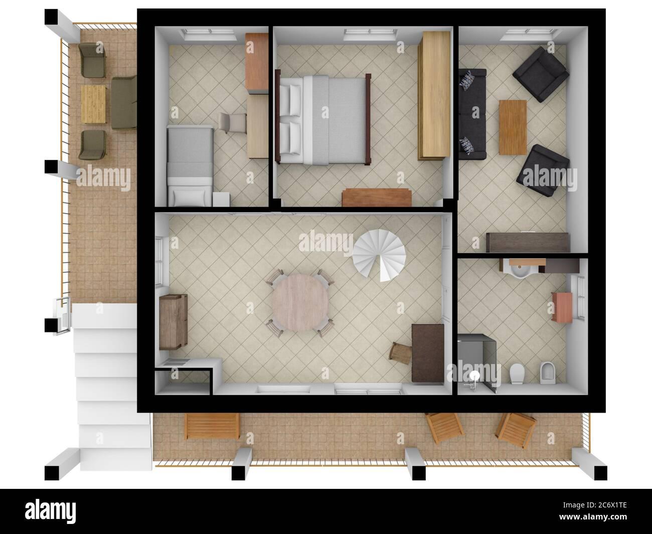 Floor Plan Interior 3d Floor Plan For Real Estate Home Plan 3d Design Of Home Space Color Floor Plan Stock Photo Alamy