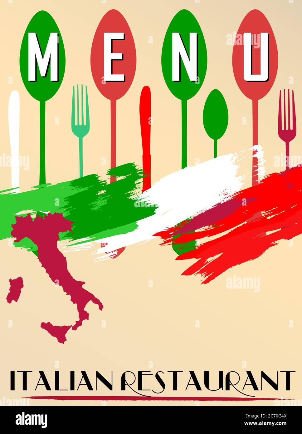 Menu For Italian Restaurant Free Copy Space Stock Vector Image Art Alamy