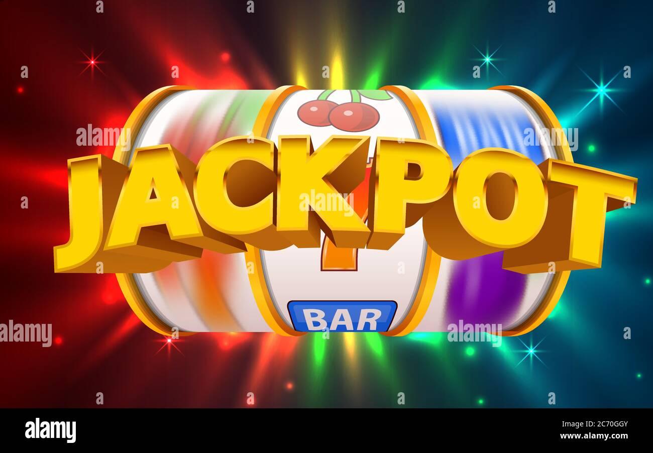 Slot machine wins the jackpot. Online casino banner. 777 casino background.  Vector illustration Stock Vector Image & Art - Alamy