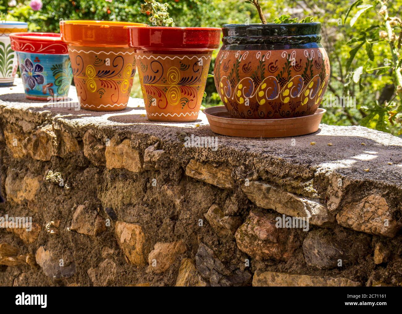 Painted Flower Pot High Resolution Stock Photography And Images Alamy