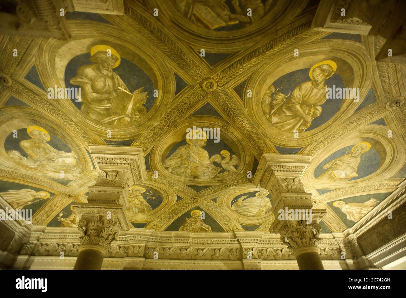 Italy, Basilicata, Acerenza, the Cathedral of Acerenza, dedicated to Santa Maria Assunta and San Canio Bishop in the Romanesque-Gothic style of the 13th chentury ad. Ferilli crypt Stock Photo