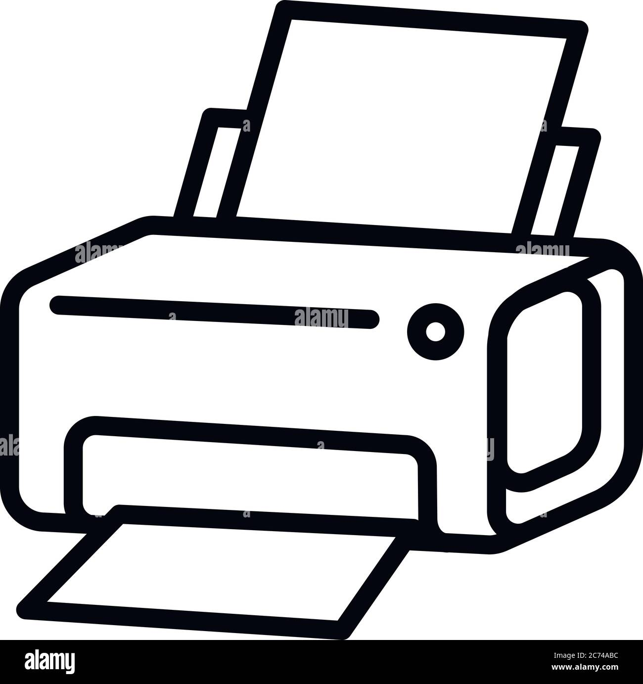 laser printer icon outline laser printer vector icon for web design isolated on white background stock vector image art alamy https www alamy com laser printer icon outline laser printer vector icon for web design isolated on white background image365816288 html