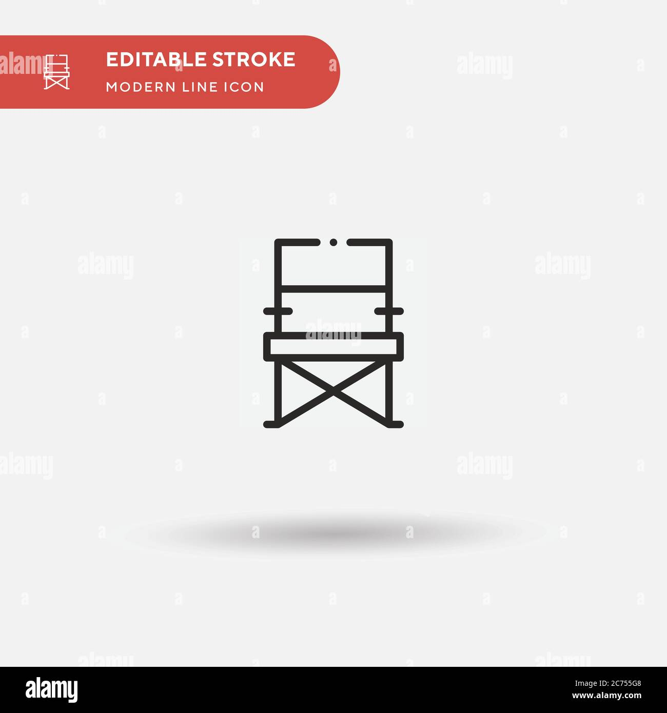 Folding Chair Simple Vector Icon Illustration Symbol Design Template For Web Mobile Ui Element Perfect Color Modern Pictogram On Editable Stroke Folding Chair Icons For Your Business Project Stock Vector Image