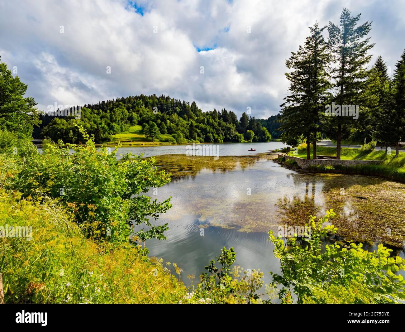 Carov most lake Mrzla vodica in Croatia Europe Stock Photo