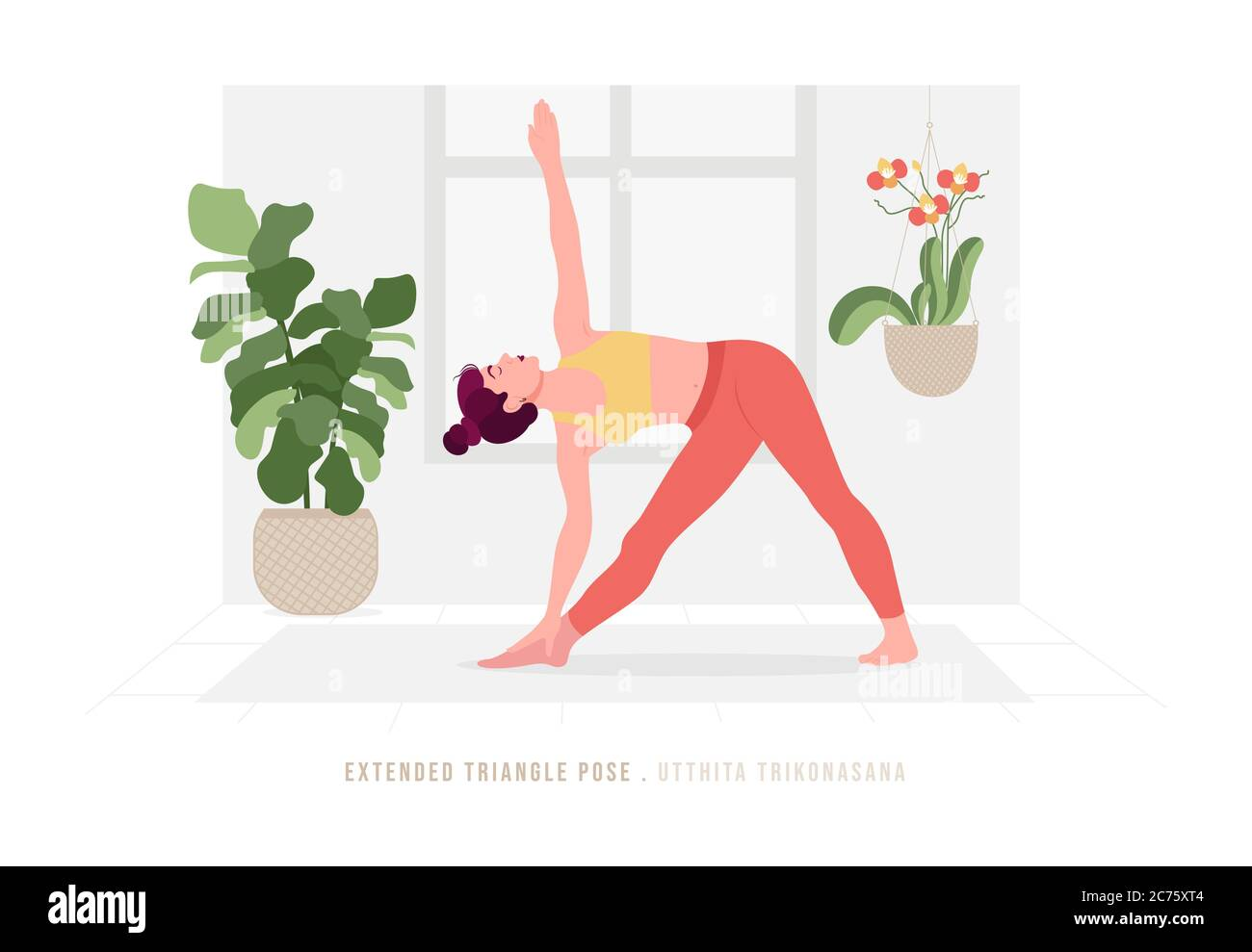 Creative Poster Or Banner Design With Illustration Of Woman Doing Yoga For Yoga Day Celebration Stock Vector Image Art Alamy