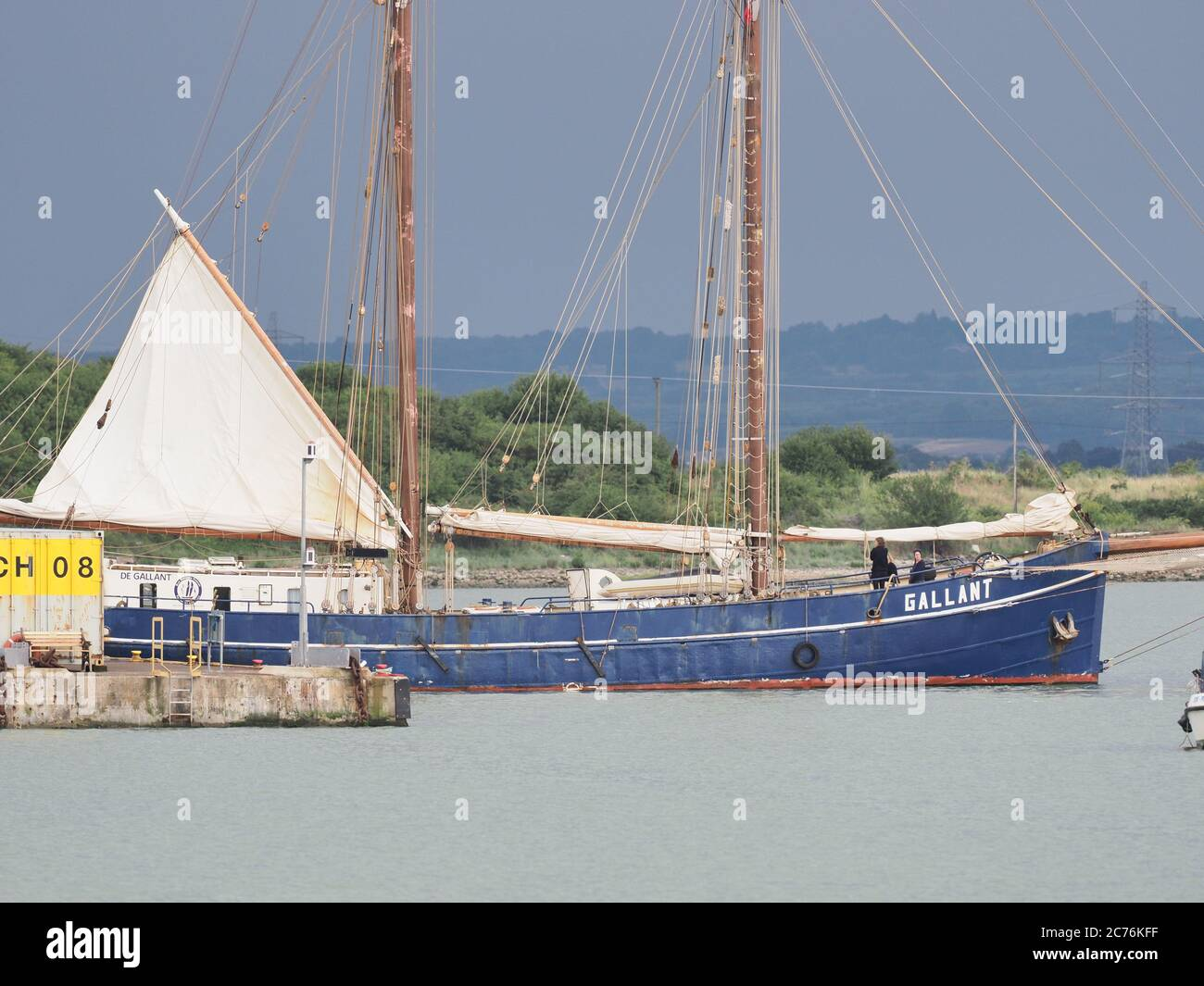 queenborough kent uk 14th july 2020 eco friendly dutch built schooner de gallant arriving in queenborough the ship is part of a sail cargo project an environmentally friendly and largely carbon neutral alamy