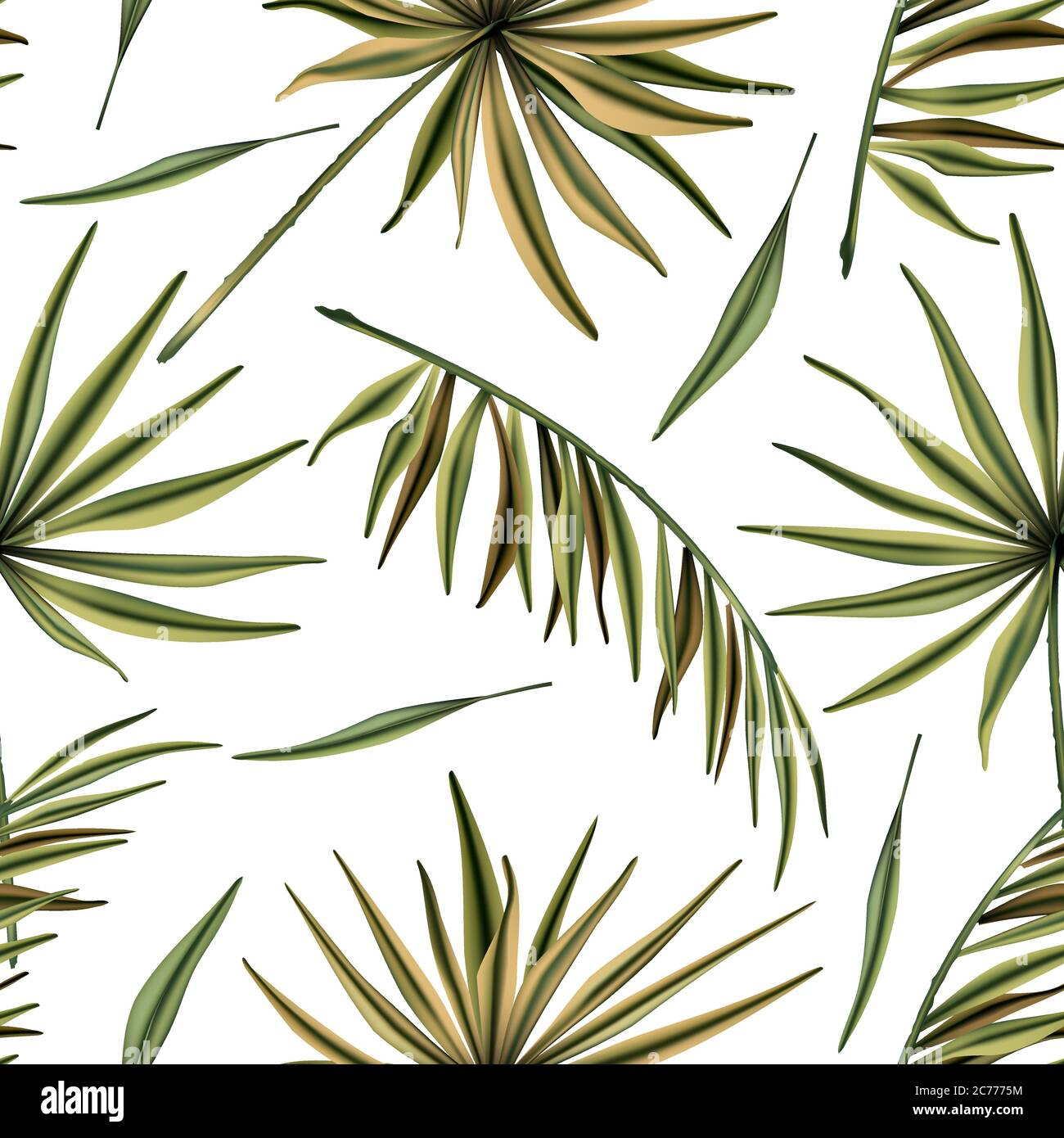 Realistic Colorful Tropical Palm Leaves Vector Seamless Pattern Jungle Botanical Summer Background Exotic Green Nature Wallpaper Stock Vector Image Art Alamy Download tropical wallpaper stock vectors. https www alamy com realistic colorful tropical palm leaves vector seamless pattern jungle botanical summer background exotic green nature wallpaper image365879632 html