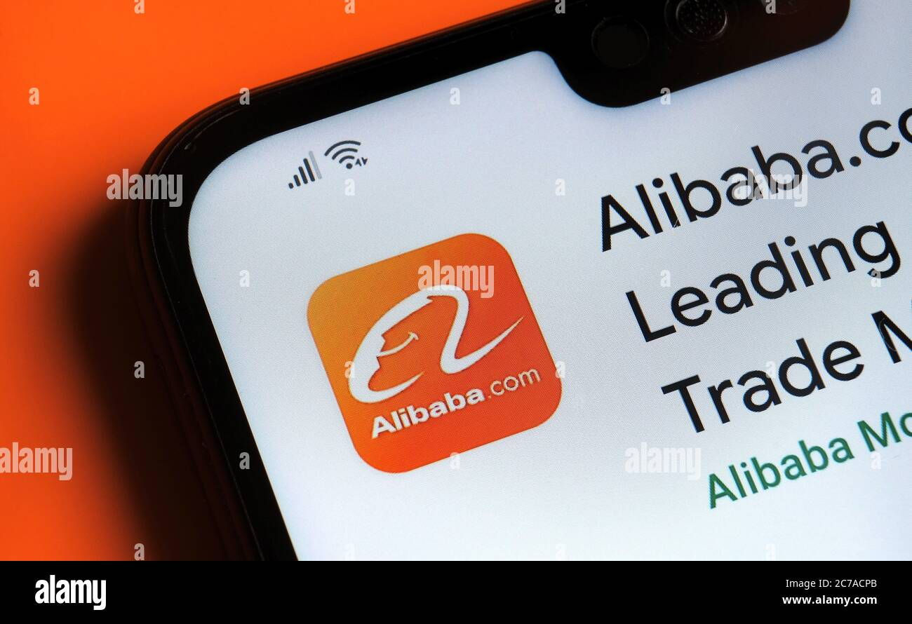 Stone Uk July 15 2020 Alibaba App Seen On The Corner Of Mobile Phone Stock Photo Alamy Click the link for $500 off & local workshops. alamy