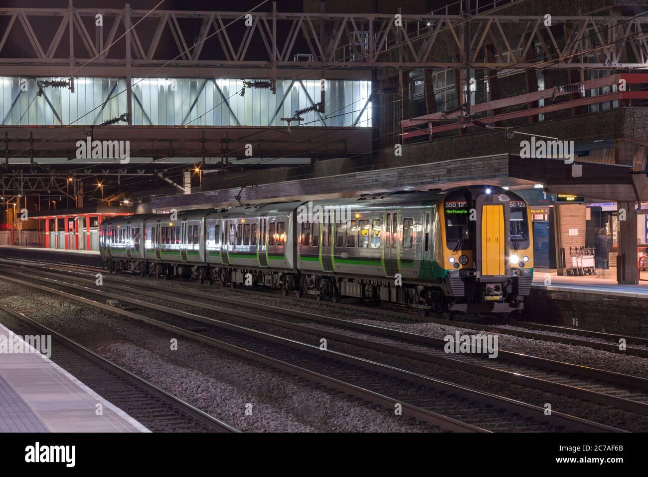 London Midland Siemens Desiro class 350 electric multiple unit train 350123 at Stafford railway station Stock Photo