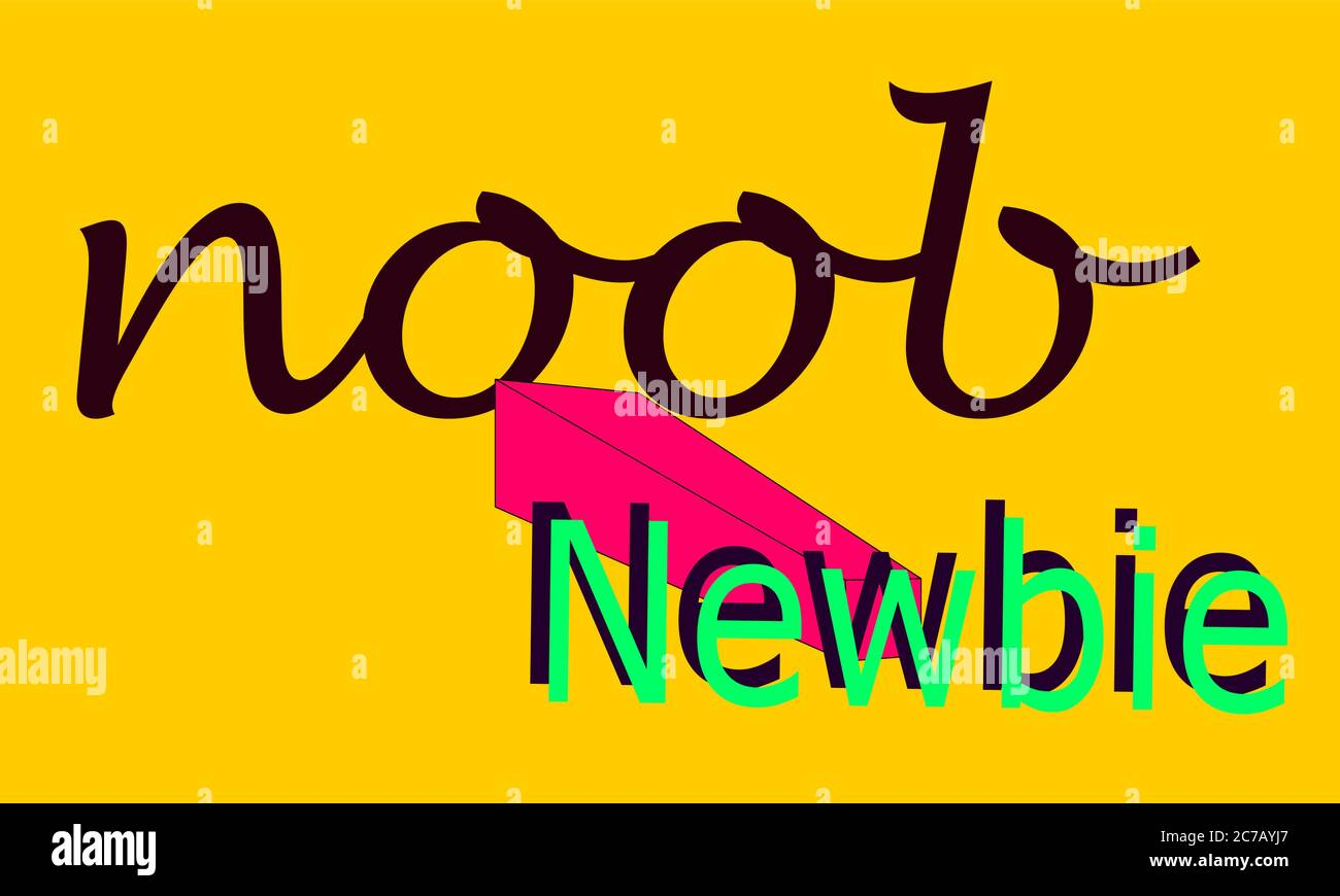 Noob Newbie tag line vector abstract Stock Vector Image Art Alamy